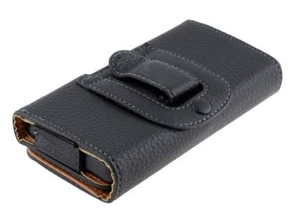 Textured Synthetic Leather Belt Pouch for Huawei Ascend Y300
