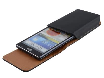 Smooth Synthetic Leather Vertical Belt Pouch for LG Optimus L9 P760
