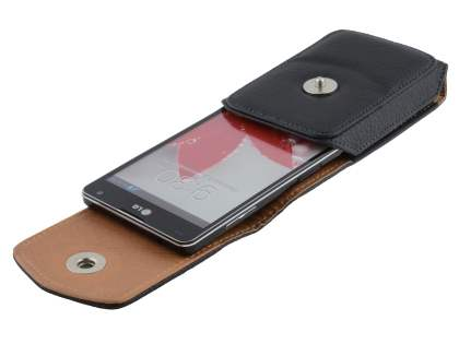 Textured Synthetic Leather Vertical Belt Pouch for LG Optimus G E975