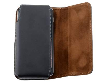 Extra-tough Genuine Leather ShineColours belt pouch for Samsung I8190 Galaxy S3 mini