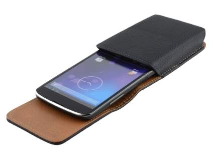 Textured Synthetic Leather Vertical Belt Pouch for LG Nexus 4 E960