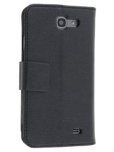 Samsung Galaxy Express i8730 Synthetic Leather Wallet Case with Stand - Black