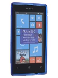 Wave Case for Nokia Lumia 520 - Frosted Blue/Blue