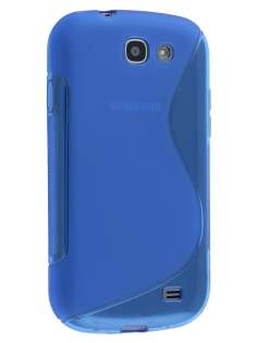 Wave Case for Samsung Galaxy Express i8730 - Frosted Blue/Blue Soft Cover