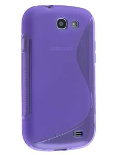 Wave Case for Samsung Galaxy Express i8730 - Frosted Purple/Purple Soft Cover