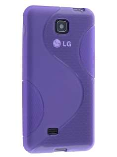 Wave Case for LG Optimus F5 P875 - Frosted Purple/Purple Soft Cover