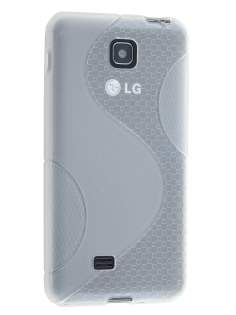 Wave Case for LG Optimus F5 P875 - Frosted Clear/Clear Soft Cover
