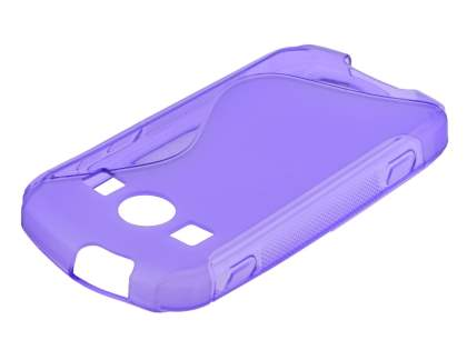 Wave Case for Samsung Galaxy Xcover II S7710 - Frosted Purple/Purple Soft Cover