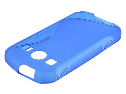 Wave Case for Samsung Galaxy Xcover II S7710 - Frosted Blue/Blue Soft Cover