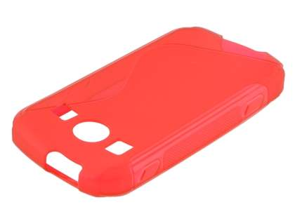 Wave Case for Samsung Galaxy Xcover II S7710 - Frosted Red/Red Soft Cover