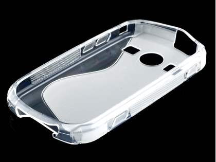 Wave Case for Samsung Galaxy Xcover II S7710 - Frosted Clear/Clear