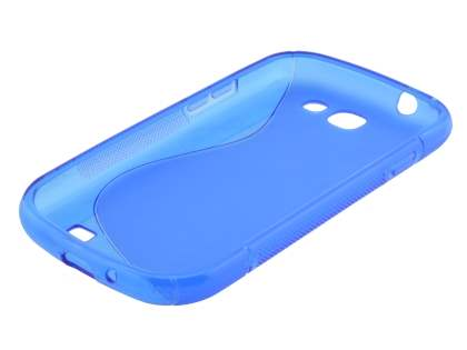 Samsung Galaxy Express i8730 Wave Case - Frosted Blue/Blue