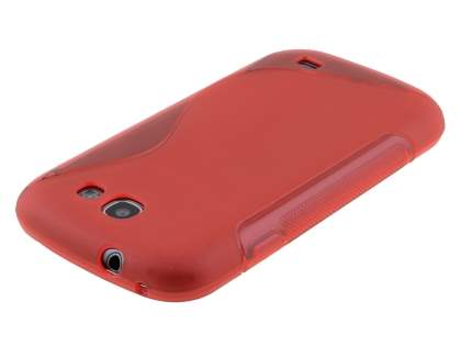 Wave Case for Samsung Galaxy Express i8730 - Frosted Red/Red