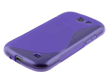 Wave Case for Samsung Galaxy Express i8730 - Frosted Purple/Purple