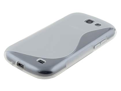 Wave Case for Samsung Galaxy Express i8730 - Frosted Clear/Clear