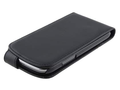 Samsung Galaxy Express i8730 Synthetic Leather Flip Case - Classic Black