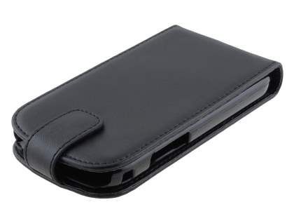 Samsung S7710 Galaxy Xcover 2 Synthetic Leather Flip Case - Classic Black