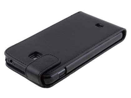 Synthetic Leather Flip Case for LG Optimus F5 P875 - Classic Black