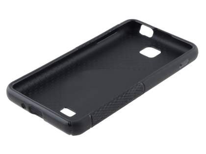 LG Optimus F5 P875 Wave Case - Frosted Black/Black