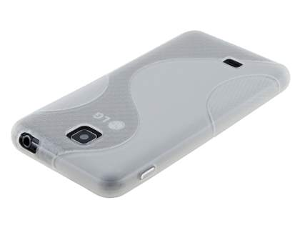 LG Optimus F5 P875 Wave Case - Frosted Clear/Clear