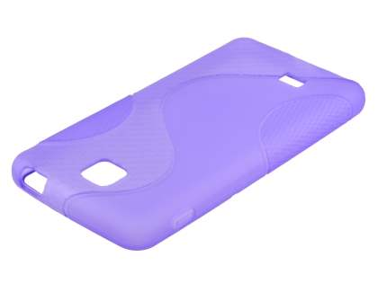 Wave Case for LG Optimus F5 P875 - Frosted Purple/Purple
