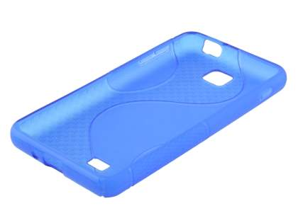 LG Optimus F5 P875 Wave Case - Frosted Blue/Blue