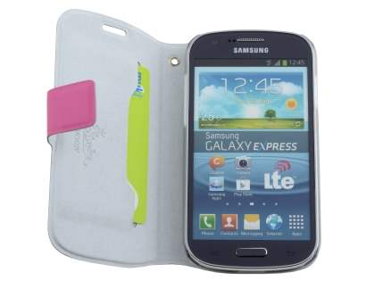 Samsung Galaxy Express i8730 Slim Genuine Leather Portfolio Case - Pink