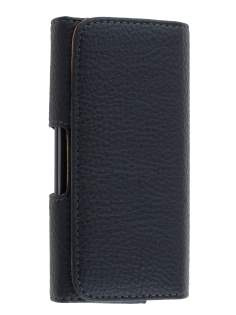 Textured Synthetic Leather Belt Pouch for LG Optimus F5 P875 - Classic Black Belt Pouch