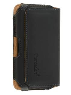 LG Optimus F5 P875 Synthetic Leather Belt Pouch - Classic Black Belt Pouch