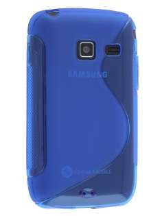 Wave Case for Samsung Galaxy Y Duos S6102 - Frosted Blue/Blue Soft Cover