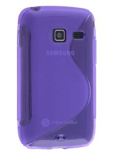 Wave Case for Samsung Galaxy Y Duos S6102 - Frosted Purple/Purple Soft Cover