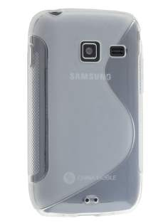 Wave Case for Samsung Galaxy Y Duos S6102 - Frosted Clear/Clear Soft Cover