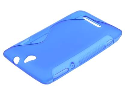 Wave Case for Sony Xperia E - Frosted Blue/Blue Soft Cover