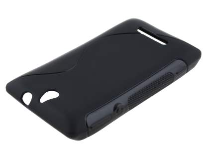 Sony Xperia E Wave Case - Frosted Black/Black