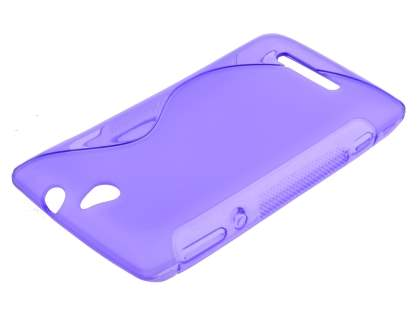 Wave Case for Sony Xperia E - Frosted Purple/Purple Soft Cover
