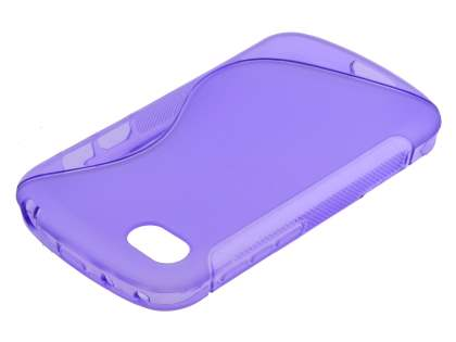 Wave Case for BlackBerry Q10 - Frosted Purple/Purple Soft Cover