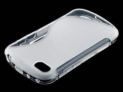 Wave Case for BlackBerry Q10 - Frosted Clear/Clear Soft Cover