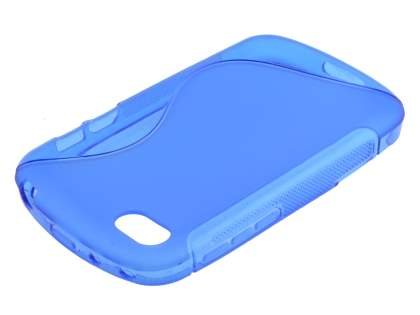 Wave Case for BlackBerry Q10 - Frosted Blue/Blue Soft Cover