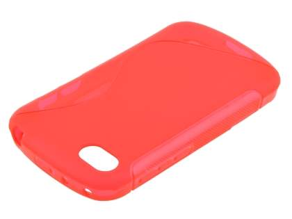 Wave Case for BlackBerry Q10 - Frosted Red/Red Soft Cover