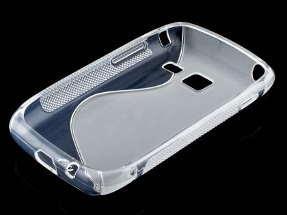 Samsung Galaxy Y Duos S6102 Wave Case - Frosted Clear/Clear