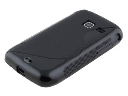 Wave Case for Samsung Galaxy Y Duos S6102 - Frosted Black/Black