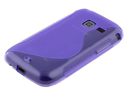 Wave Case for Samsung Galaxy Y Duos S6102 - Frosted Purple/Purple