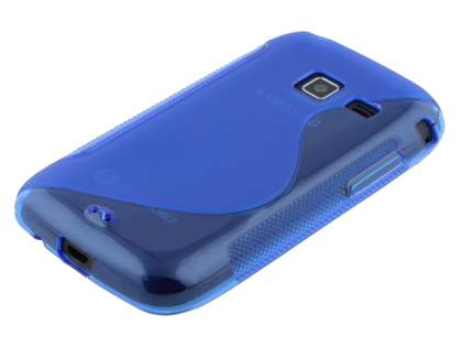 Samsung Galaxy Y Duos S6102 Wave Case - Frosted Blue/Blue
