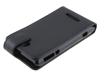 Synthetic Leather Flip Case for Sony Xperia E - Classic Black