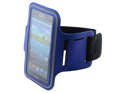 Universal Sports Arm Band for HTC One X / XL / X+ - Blue/Grey Sports Arm Band