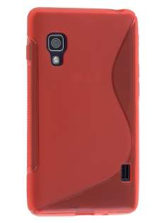 Wave Case for LG Optimus L5 II E460 - Frosted Red/Red Soft Cover