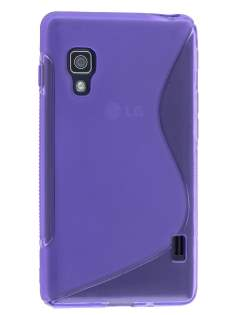 LG Optimus L5 II E460 Wave Case - Frosted Purple/Purple Soft Cover