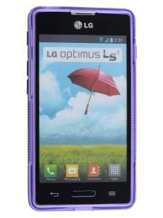 LG Optimus L5 II E460 Wave Case - Frosted Purple/Purple
