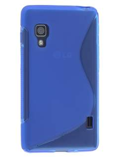LG Optimus L5 II E460 Wave Case - Frosted Blue/Blue Soft Cover