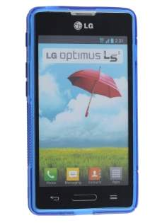 LG Optimus L5 II E460 Wave Case - Frosted Blue/Blue
